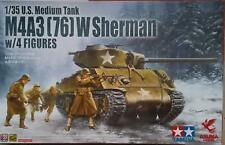 Asuka Model 35048 US Medium Tank M4A3 (76) W Sherman w/ 4 Figures   1:35