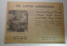 OKLAHOMA LAWTON CONSTITUTION NEWSPAPER JUNE 20  1958 WASHITA RIVER FLOODING