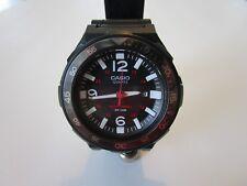 Casio Quartz Solar MRW-S310H Black/White/Red solar powered diver watch