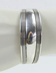 Breiter Silber Armreif, 925er Silber, Silberspange,