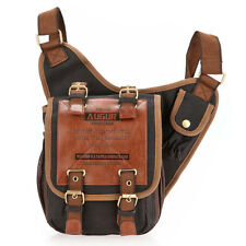New Black Military Mens Shoulder Messenger Bag Men leather Sling Crossbody Bags