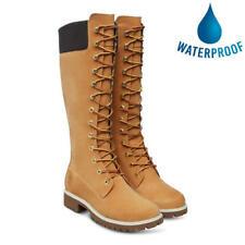 Timberland 14 Inch Tall Womens Ladies Waterproof Wheat Yellow Hi Boots Size 4-8