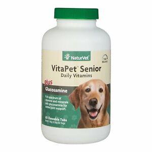 NaturVet Time Release VitaPet Senior Dog Multi-Vitamins Supplement 60 count
