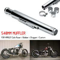 Chrome Motorcycle Exhaust Muffler Pipe W/ Reducer Cocktail Shaker Tulip Bell