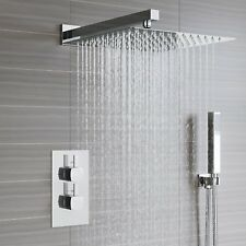 Thermostatic Concealed Twin Shower Mixer Valve | Thin Overhead 2 Way | 2 Outlets