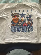 80's Dallas Cowboys Warner Brothers T Shirt Bugs Bunny Taz Yosemite Sam Daffy