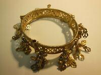 Bracelet Berbère Argent titrage bas  doré breloques  beau modèle