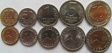 "Russia - Soviet Union set of 5 coins 1991 ""10+50 kopeek+1+5+10 rubles"" UNC"