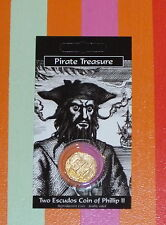Pirates Treasure Coin Phillip II Escudos Repro Gold-Plated Spanish Spain bnip