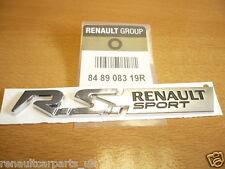 RENAULT sport badge / autocollant Clio Megane Twingo RS 848908319r