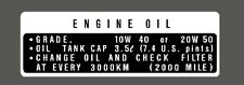 HONDA CB750 FOUR ENGINE OIL DECAL  SIDECOVER  / REPRO DECAL