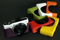Handmade Real Leather Half Camera Case Camera bag for Olympus XZ1 XZ-1 7 colors