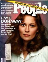 Faye Dunaway People Magazine March 28, 1977 Issue