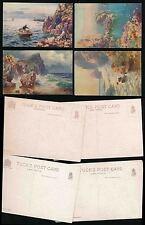 CORNWALL TUCKS OILETTE PAINT EFFECT 7626 CORNISH CLIFFS ARTIST WIMBUSH...4 CARDS