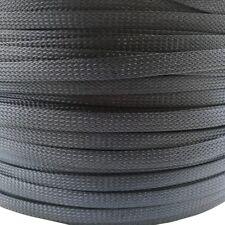 Gewebeschlauch Geflechtschlauch PET Kabelschlauch Kabelschutz Isolierung schwarz