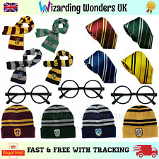 Harry Potter Scarf Hat Tie Glasses Gryffindor Slytherin Ravenclaw Hufflepuff UK