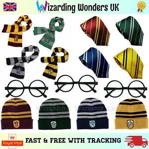 Harry Potter Scarf Hat Tie Glasses Gryffindor Slytherin Ravenclaw Hufflepuff UK