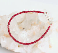 Rubin Armband edelsteinarmband Damen Rot Rubinarmband Schmuck 925 Silber Rubine