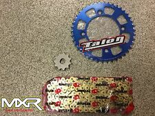 KTM SX 50 2014-2018 415 CHAIN AND SPROCKETS WITH A BLUE REAR SPROCKET