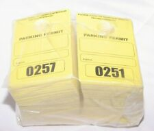 Lot Of 10 Parking Permit Pass Rear View Mirror Hang Tags Employees Students Read