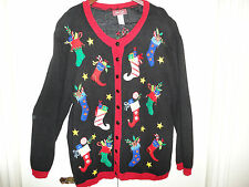 Womans Knitted Famous UGLY CHRISTMAS SWEATER Size 3X Vintage Sun Li Joy