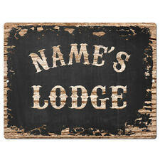 PP4242 NAME'S LODGE Custom Personalized Chic Tin Sign Decor Funny Gift Ideas