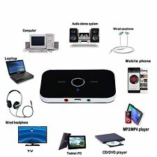 Bluetooth Audio Sender Receiver 2-in-1 Wireless Stereo Music Adapter HIFI A2DP