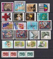 Luxemburg postfrisch Jahrgang 1989 siehe Bilder