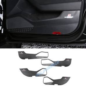 Carbon Fiber leather Door Anti Kick Pad Trim For VW Passat Variant B8 17-19