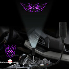 Transformers Decepticon Cigarette Lighter Car LED Laser Projector Shadow Light
