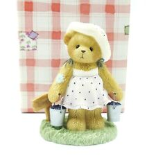 Cherished Teddies Leah Picking Blueberries Ct009 2003 Members Only Approx 3.5""