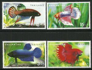 Thailand 2002 Fighting Fish set of 4 MNH