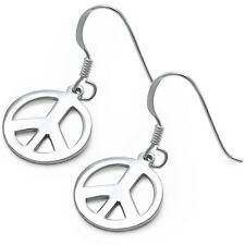 Peace Sign  .925 Sterling Silver Earrings