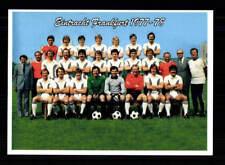 Eintracht Frankfurt Mannschaftskarte 1977-78