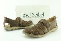 Josef Seibel Ida Women's Brown Leather Strappy Sandals US 8 8.5 EU 39 Shoes 383D