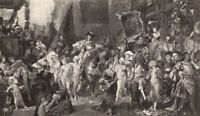 HOLY ROMAN EMPEROR CHARLES KARL V Antwerp Belgium NAKED NUDE GIRLS ~ 1878 Print