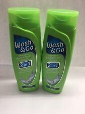 2x 200ml Wash & Go Shampoo and Conditioner