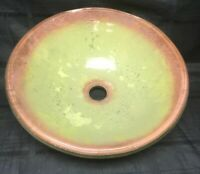 GG Bathroom Sink Bowl Thick Glass Green Pink