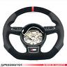 Échange Tuning Aplati Volant en Cuir Alcantara S-LINE Audi A1 A6 A7 A8 Rouge