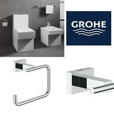 Grohe Essentials Cube Bathroom Toilet Roll Holder StarLight Chrome 40507001 New