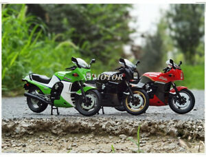 New AOSHIMA 1/12 Kawasaki Ninja GPZ900R Diecast Model Motorcycle Red/Black/Green
