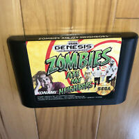 VGC 2 Player ZOMBIES ATE MY NEIGHBORS Sega Genesis Game AUTHENTIC Cartridge OEM