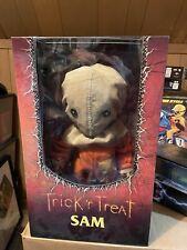 "Trick 'r Treat Sam 15"" Mega Scale Doll/Figure Mezco Toyz Horror Halloween opened"