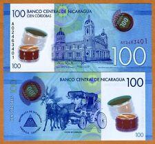 Nicaragua, 100 cordobas, 2014 (2015), Pick New, POLYMER New Design, UNC