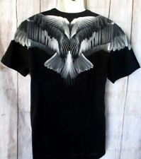 MENS GUESS V-NECK BLACK WINGS T-SHIRT SIZE XL