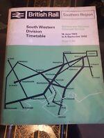 BRITISH RAIL SOUTH WESTERN DIVISION TIMETABLE BOOK 1965/66 COLLECTORS ITEM RARE