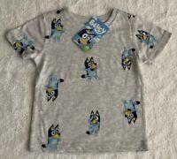 Bluey Bingo Boys Grey T Shirt Top Sizes 2 3 4 & 5  BRAND NEW WITH TAGS