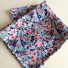 Pink flowers Liberty of London silk pocket square