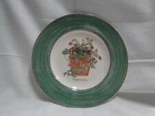 """Wedgwood Sarah's Garden, Green Band, Flower Pot: Salad Plate, 8 1/4"""""""