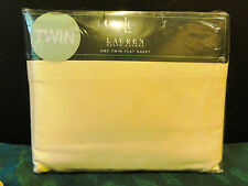 Ralph Lauren SOLID YELLOW Lighthouse Yellow TWIN FLAT Sheet NEW